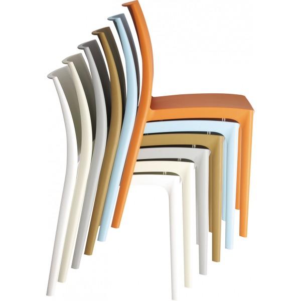 Chaise design blanche la joyeuse for La chaise design
